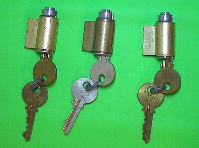 LOT OF 3 LOCKSMITH 6-PIN  US10 NEW YALE LOCK 1801 CYLINDER  STD KEYWAY