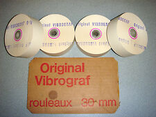 4 ROULEAUX DE PAPIER D'ORIGINE POUR VIBROGRAF / ORIGINAL TIMING MACHINE PAPER