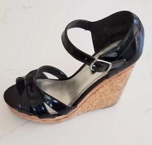 86812a62bd07 White House Black Market Women Heels Wedge Marta 6.5 M Width Patent ...