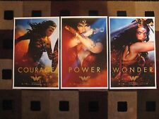 """Wonder Woman - 2017 (11"""" x 17"""") Movie Collector's Poster Prints ( Set of 3 )"""