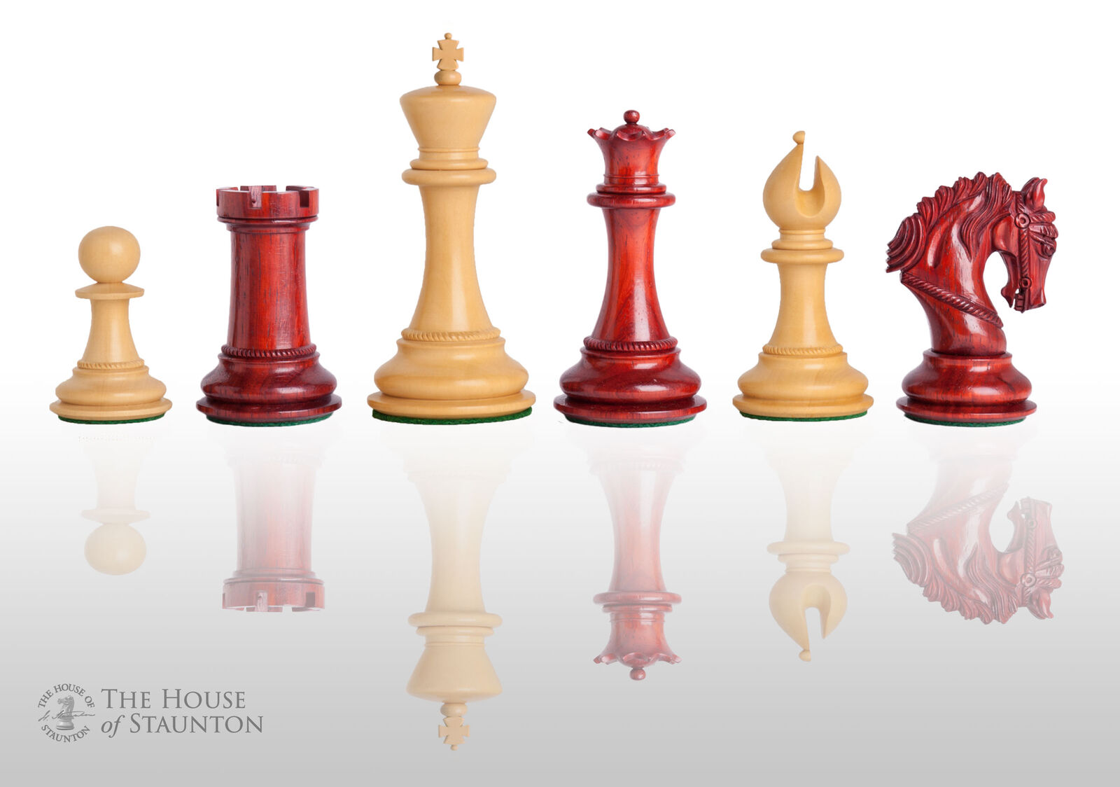 The Salerno Luxury Chess Set - Pieces Only - 4.4  King - Blood rosawood