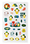 miniature 10 - Official BTS BT21 Green Planet Clear Sticker +Freebie +Free Tracking KPOP