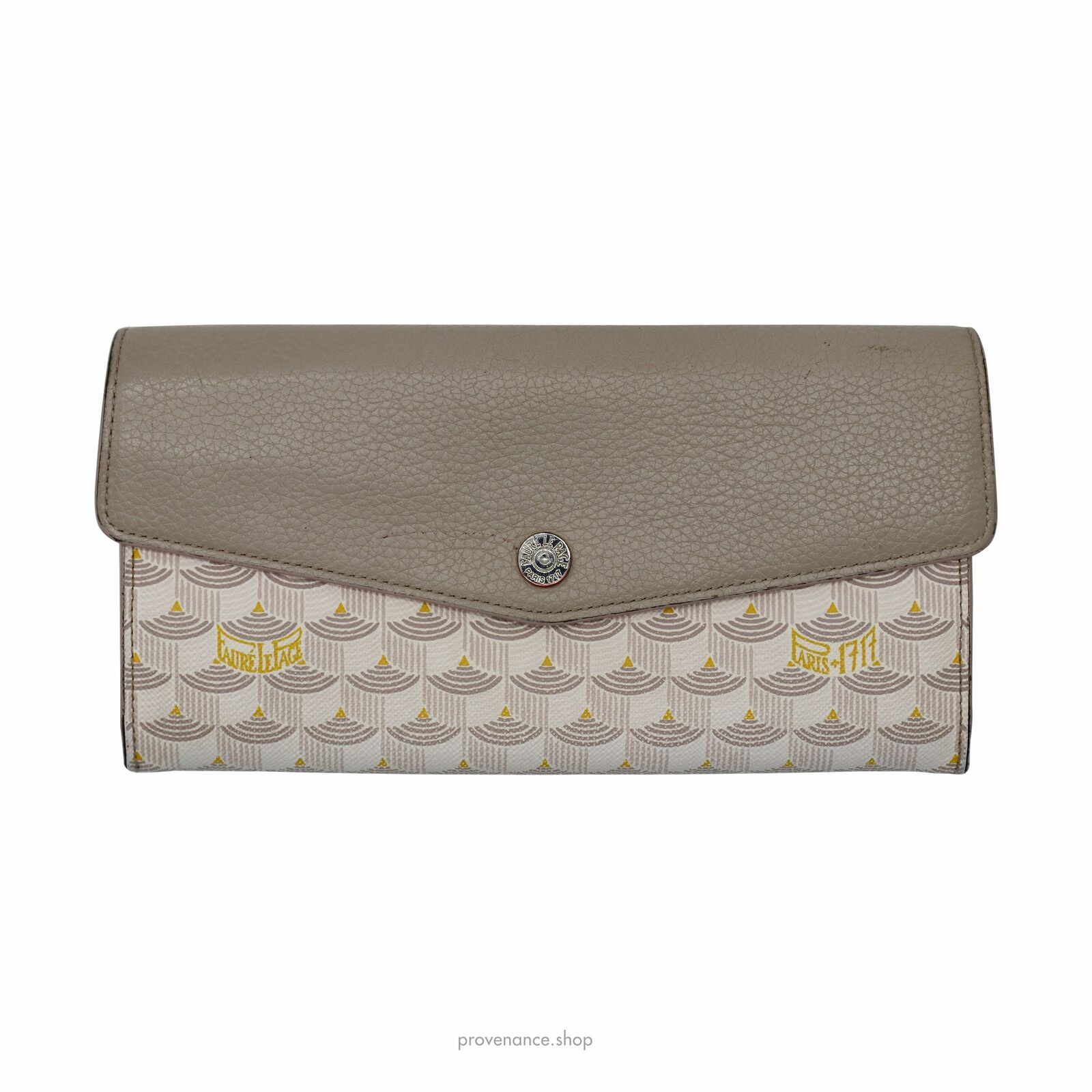 Faure Le Page Rabat Long Wallet - Hot Sand Scale & Sand Leather