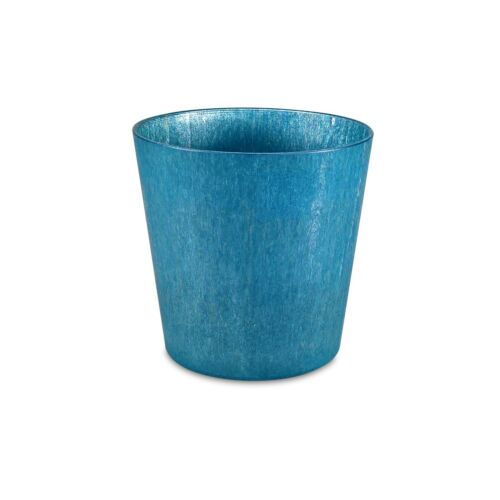Indoor Use 10cm 16cm Or 22cm 2x Eden TEAL LUMINAIR ROUND POTS Waterproof
