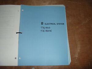 [ZTBE_9966]  Kubota TG1860 TG1860G Lawn Garden Tractor Electrical Wiring Diagram Manual    eBay   Kubota Tractor Electrical Wiring Diagrams      eBay