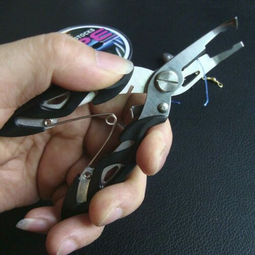 Stainless Steel Fishing Pliers Split Ring Scissors Wire Line Cutter Hook Remover