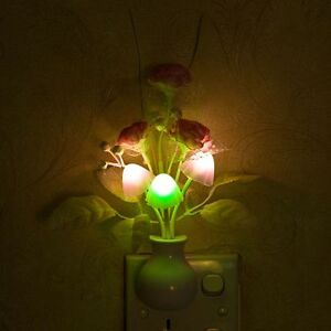 Lights-Cute-Decor-Multicoloured-US-Plug-Induction-Mushroom-Lamp-Nightlight-LED