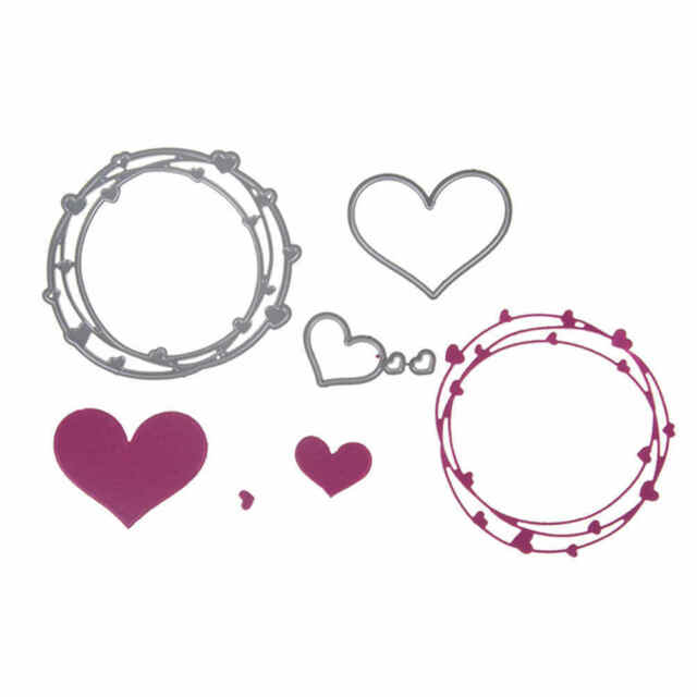4pcs Love Ring Design Metal Cutting Dies For DIY Scrapbooking Album Paper CardsJ