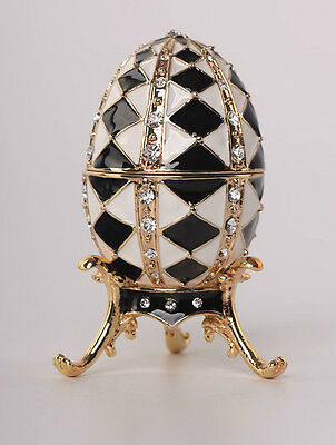 Faberge Egg with & pedant by Keren Kopal Austrian Crystal Jewelry / Trinket box