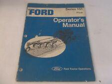 Ford Series 151 Plow Operators Manual