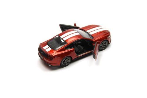 "New 5/"" Kinsmart 2015 Ford Mustang GT Stripe Diecast Model Toy Car 1:38 Orange"
