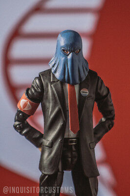 "CUSTOM 1//12 HEAD Gijoe COBRA COMMANDER Marvel Legends MEZCO 6/"" Figure PAINTED"