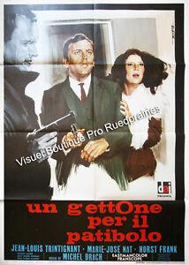 Affiche-100x140cm-SAFARI-DIAMANTS-UN-GETTONE-PER-IL-PATIBOLO-1966-Trintignant