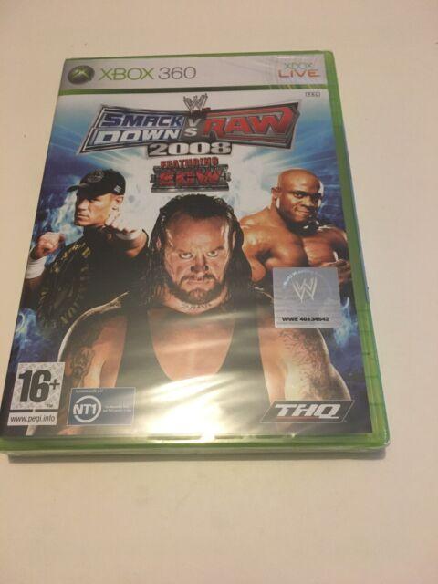 🤩 wwe smackdown vs raw 2008 pour xbox 360 neuf sous blister officiel combat