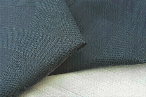 Pure Laine 150/'S bleu foncé Deluxe Prince of Wales Check Made in Italy E128N