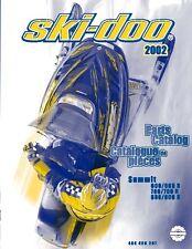 Ski-Doo parts manual catalog book 2002 SUMMIT 800 & 800 R