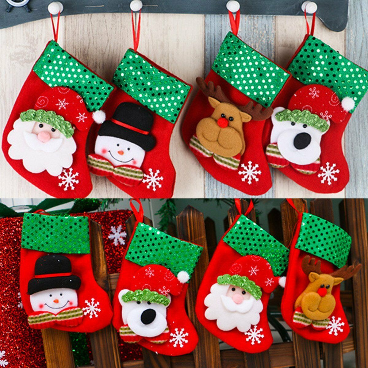 Newest Christmas Ornaments Socks Festival Party Cute Tree Hanging Decoration