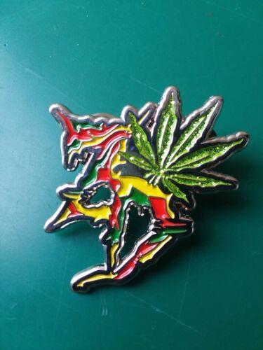 Zeds Dead ZD pot leaf lapel enamel hat pin trippy lsd color dubstep EDM music