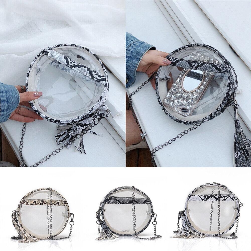 Clear PVC Transparent Shopping Bag Shoulder Handbag Women Tote Travel ... - s l1600