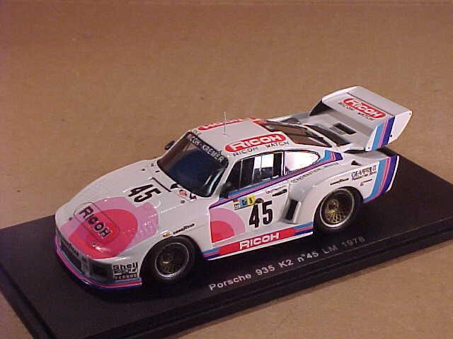 Spark  S2012 1 43 Resin Porsche 935 K2 1976 LeMans, Ricoh, P Gurdjian et al