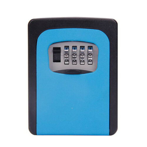 4 Digit Outdoor Security Wall Mounted Key Safe Code Secure Lock-Storage Tool