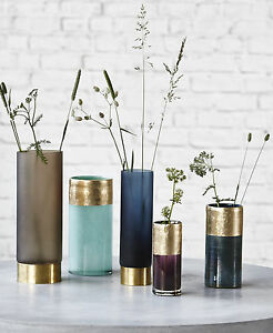 house doctor vase base lost blau t rkis lila braun gold glasvase blumenvase deko ebay. Black Bedroom Furniture Sets. Home Design Ideas