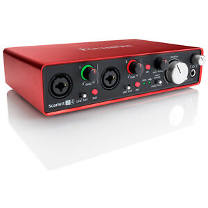 Details about Focusrite Scarlett 2i4 2nd Gen Stereo 24-BIT USB Audio  Interface w/ProTools