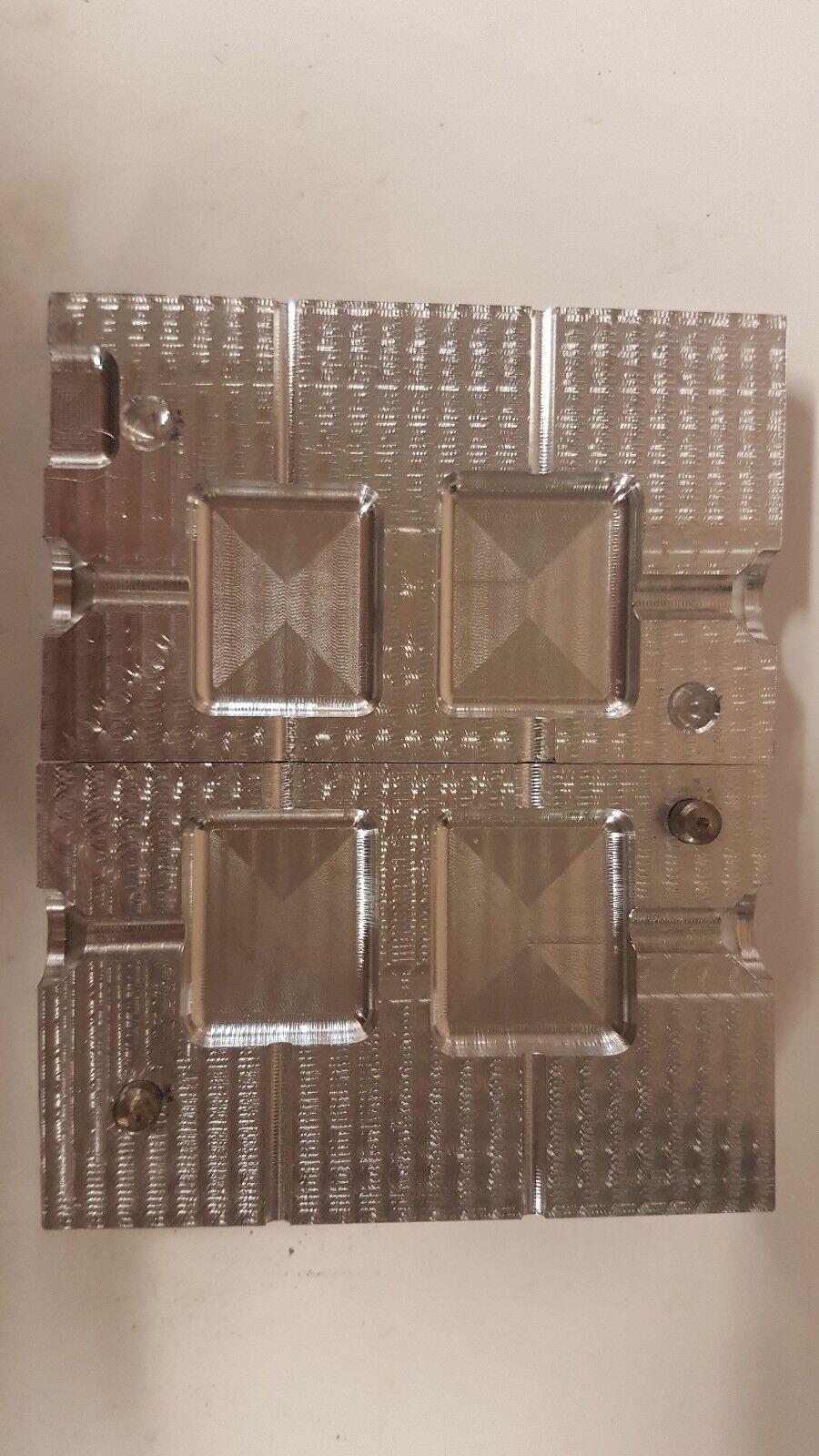 InLine PIATTO QUADRATO Stampo PIOMBO 3oz 3.5oz per inserire un pezzo.