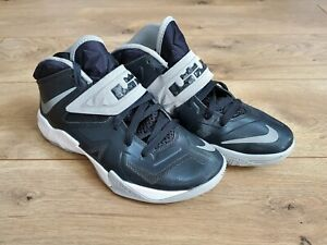 Nike Zoom Soldier VII Lebron James 610343-001 Blk/Gry Basketball Womens 7.5