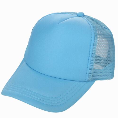 Mesh Baseball Cap Trucker Hat Blank Curved Visor Hat Adjustable Plain Color NEW