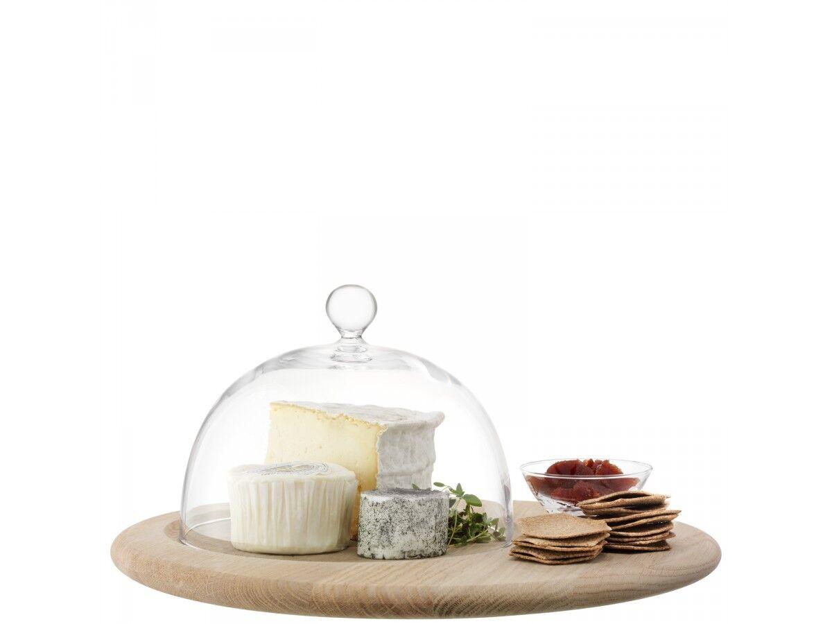 Lsa servir fromage set & oak base - 40cm