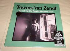 Townes Van Zandt Live Old Quarter Sealed 2 LP Limited 500 Clear Colored Vinyl