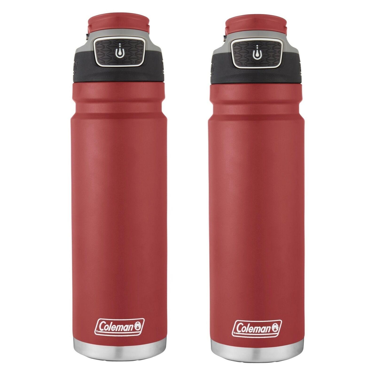 Coleman FreeFlow Autoseal Agua Bottle 24oz Heritage rojo Stainless Steel(2-Pack)   en linea