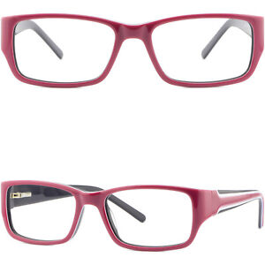 8e5a5f92ce7 Image is loading Narrow-Womens-Plastic-Frames-Spring-Hinges-Girls-Red-