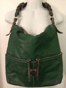 Dooney-and-Bourke-Large-Green-Leather-Shoulder-Bag