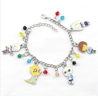 Game Undertale Cartoon Bracelets Sans Frisk Charms Enamel Charm Women Jewelry