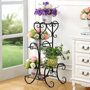 Blumenregal-Blumentreppe-Pflanzentreppe-Blumenstaender-Gratenregal-Blume-Regal-GF