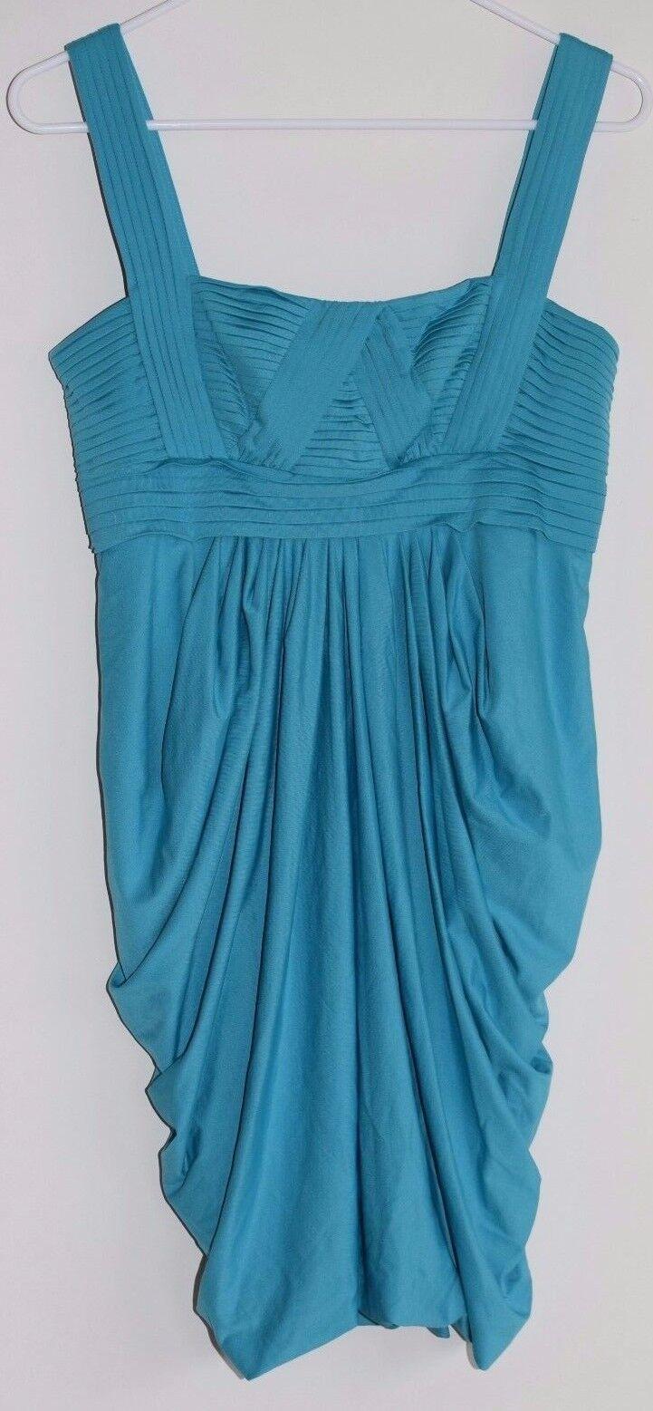 NWT BCBG Max Azria Draped Bandage Dress Cyan Blau teal Stretch dress S
