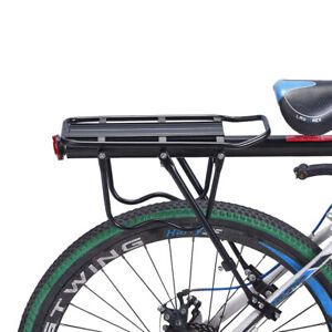 Bicycle Rear Rack Aluminum Alloy Frame Carrier Holder Mount Quick Release Cargo