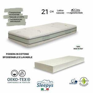 Materasso Lattice 100 Naturale Sfoderabile Fodera In Argento Antibatterico H21 Ebay