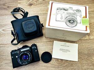 Zenit-ET-35-mm-SLR-Filmkamera-MC-Helios-77m-4-f-1-8-50mm-m42-Objektiv-vintage-UDSSR