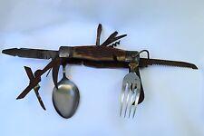 Vtg 1950s Camp Knike w/ Fork & Spoon Valor Japan