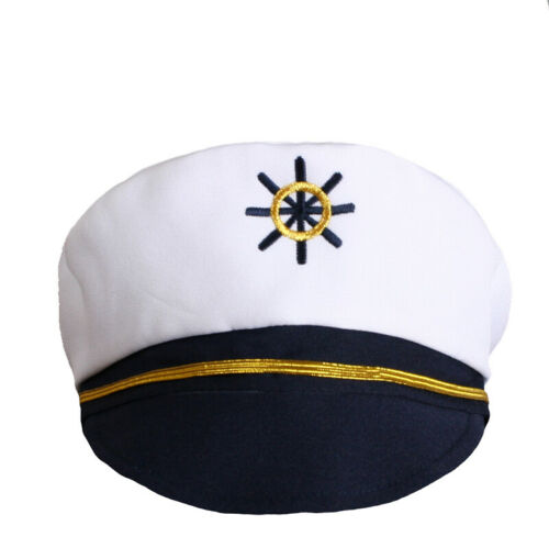 Hermosa White Navy Sailor Outfit Captain Costume for Babies Toddler Boy Cruise