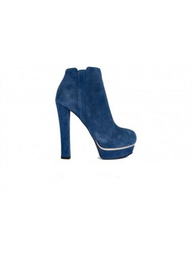 High Le Electric Ankel 22ls Silla Blue Heel Kvinne Boot Suede 66CUTqw