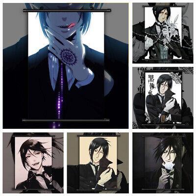 4439 Kuroshitsuji Black Butler Sebastian anime Home Decor Poster Wall Scroll
