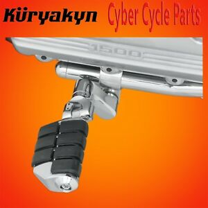 Kuryakyn-Chrome-Dually-ISO-Pegs-With-Offset-amp-1-034-Magnum-Quick-Clamps-7976
