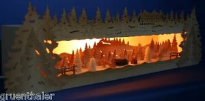 3D-Schwibbogen-Erhoehung-63cm-spielende-Fuechse-Sockel-Unterbank-Bank-Wildmotiv