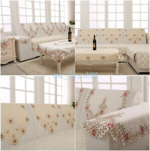 1pc Embroidery Furniture Slipcover Sofa Backrest Cloth Cover For 1 2