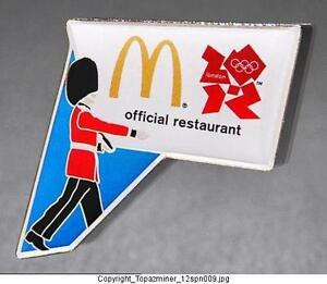 London 2012 Olympic Pins 2012 London England Sponsor Mcdonalds Official Restaurant Palace Gd Sports Memorabilia