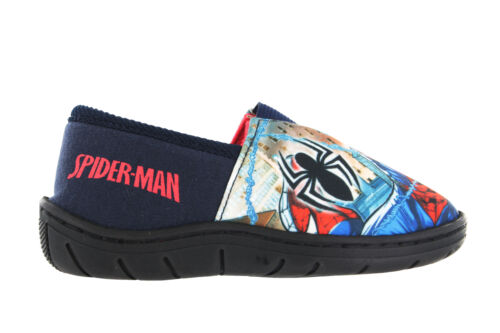 Boys Spiderman Action Print Red /& Blue Elasticated Slippers UK Infant Size 7-1